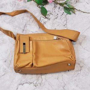 Perlina Camel Leather Purse